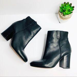 Sam Edelman Fairfield Leather Black Booties